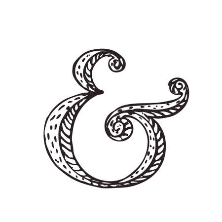 ligature: Custom ampersand for decoration. Vector illustration