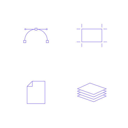 is outlined: Graphics designer tools. Simple outlined vector icon in linear style