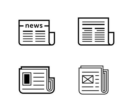 gazette: News icons. Newspaper vector illustration