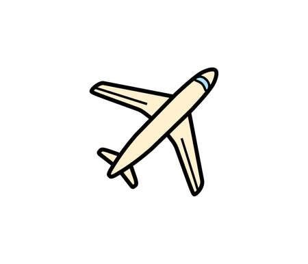 aero: Plane aero cargo icon. Vector illustration