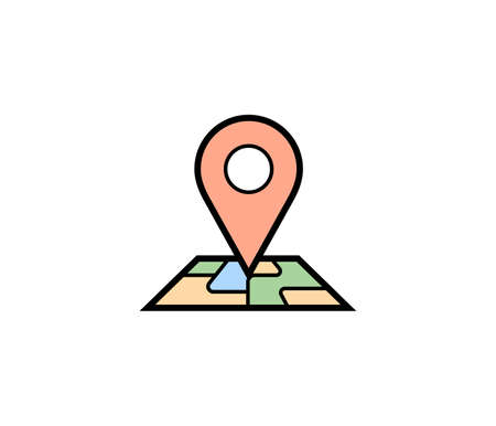 map pin: Pin map icon. Vector illustration of map pin