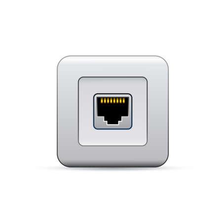 ethernet: Network ethernet port. Symbol of network access.