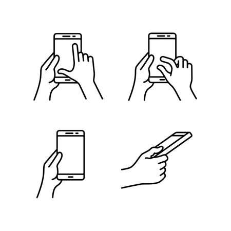 zoom: Smartphones gesture icons