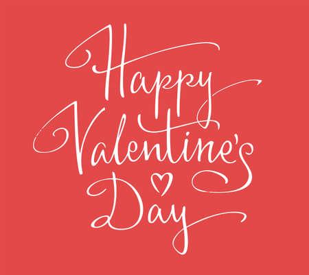 happy valentines day: Happy Valentines Day lettering Illustration