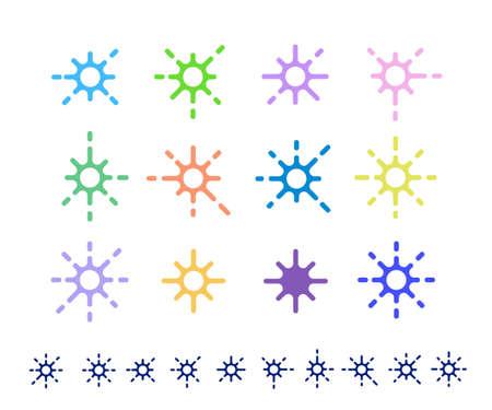 decoration elements: Star shape elements for decoration vector illustration