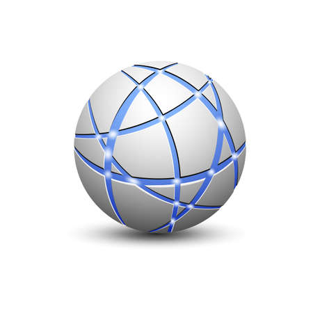 global communication: Abstract globe icon with communication lines. Communication and global network concept. Vector illustration