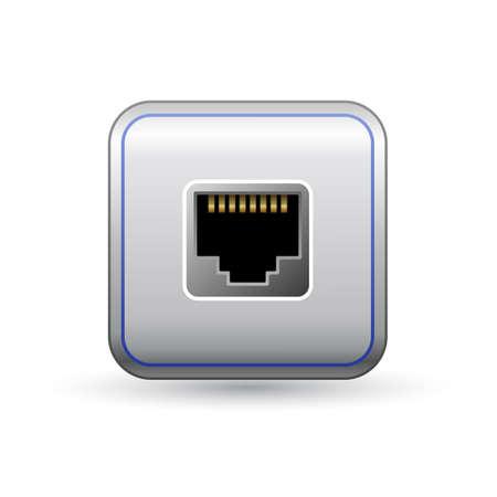 Ethernet Socket Icon Network Ethernet Port Symbol Of Network