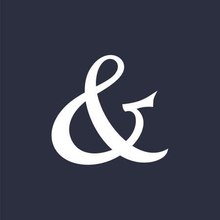 Elegant and stylish custom ampersand. Decoration ampersand for custom invitation.