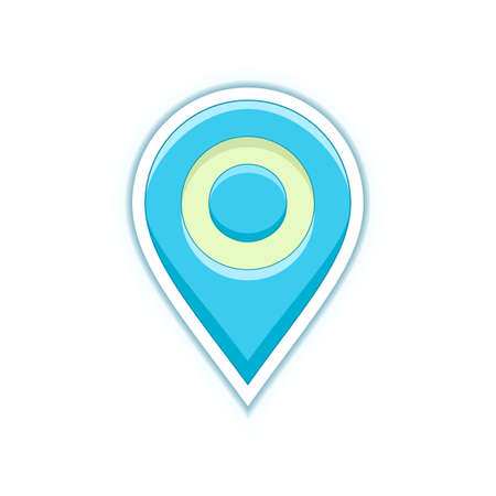 Vector pin symbol. Map location pin icon. Vector icon for address and contact web page Illustration