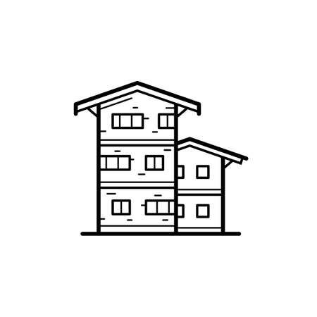 urban building: Icon of a building for a real estate agency. A symbol of a modern urban building. City building vector icon Illustration