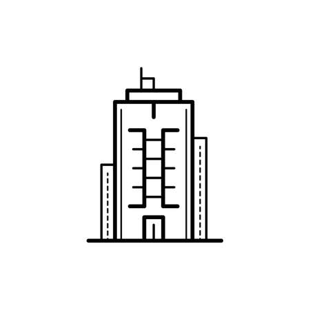 urban building: Icon of a building for a real estate agency. A symbol of a modern urban building.