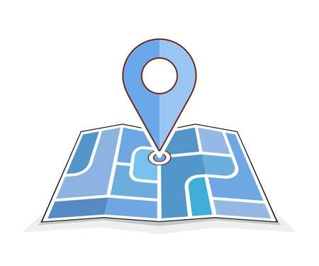 Geo pin symbol. Icons of map and pin. Vector illustration for address contact web page or navigation route