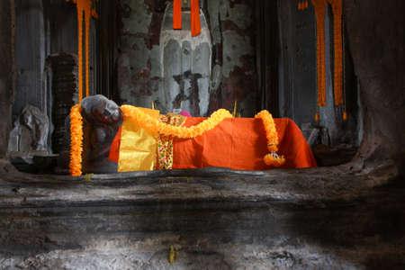 Buddha statue in Angor Wat, Siem Reap, Cambodia