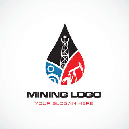 Great mining logo Illustration