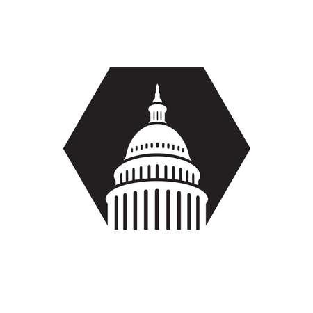 Conception de vecteur de bâtiment de Capitole de Landmark Creative Premium Illustrations emblématiques Vecteurs