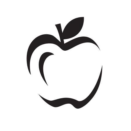 Nature graphic Abstract Apple Vector Design icon Illustration Banco de Imagens - 131766581
