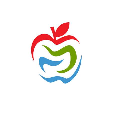 Nature graphic Abstract Apple Vector Design icon Illustration Banco de Imagens - 131766324