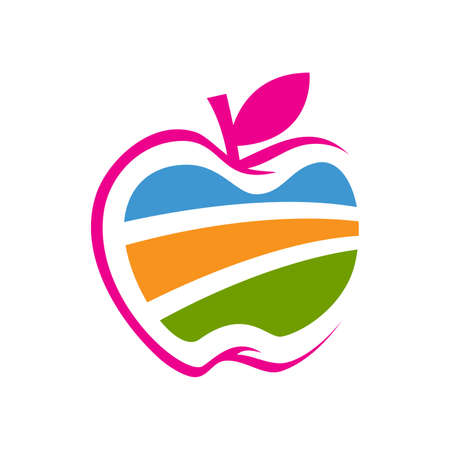 Nature graphic Abstract Apple Vector Design icon Illustration