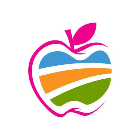 Nature graphic Abstract Apple Vector Design icon Illustration Banco de Imagens - 131766279