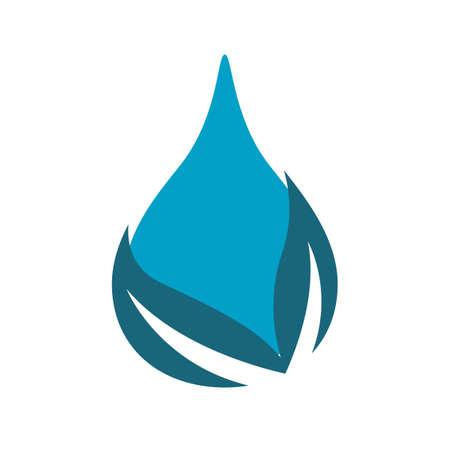 aqua drop Water droplet eco mineral natural design vector template