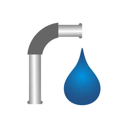 aqua drop Water droplet  eco mineral natural design vector template 일러스트
