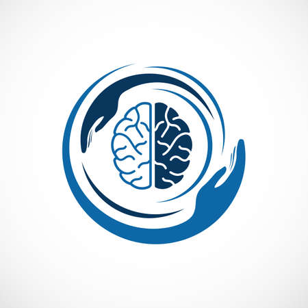 intelligence Tech Colorful Mind Head Health designs concept Ilustração