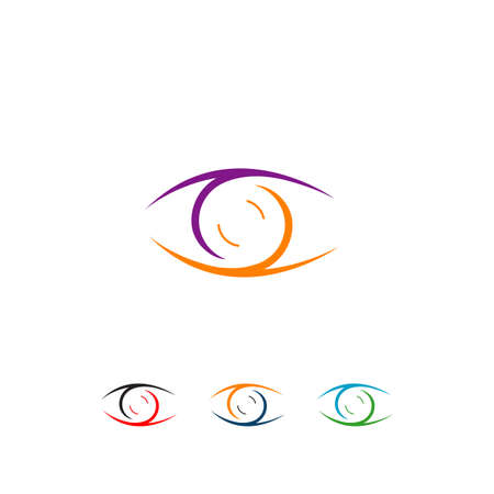 stylish Eyes design a Vision concept idea vector illustrations