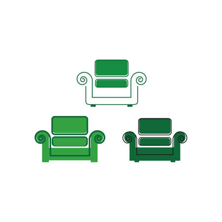 furniture interior sofa chair design vector icon