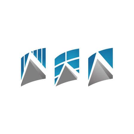letter A a Modern triangle vector inspiration Ilustração