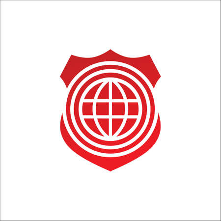 Abstract symbol of security company shield design vector illustrations