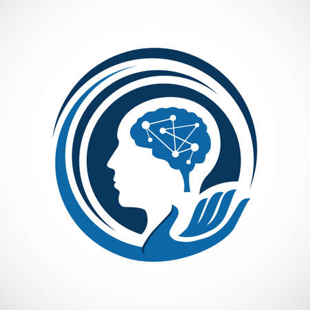 intelligent mind head health design vector illustration Ilustração