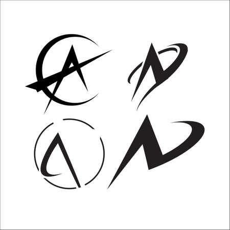 letter A a Modern triangle logo vector inspirations Banco de Imagens - 132523092