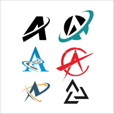 letter A a Modern triangle vector inspirations