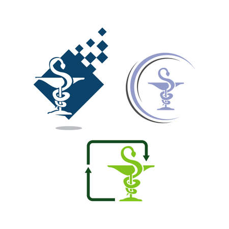 Healthcare medical ambulance hospital Pharmacy vector symbol icon template illustration