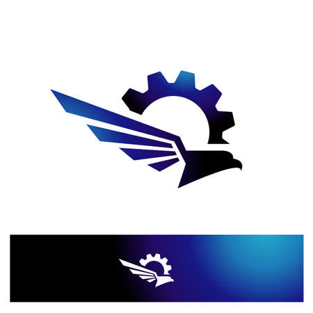 awk Falcon Eagle vector design icon illustration Template