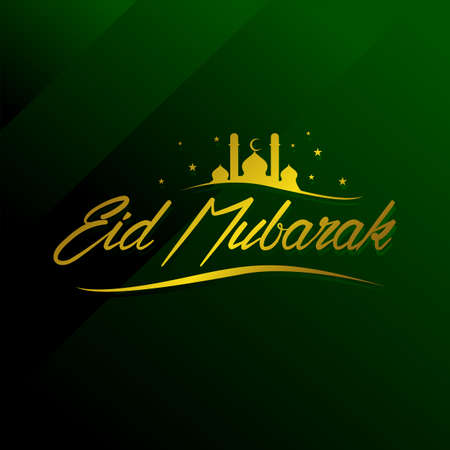 Islamic holy Eid Al-Fitr Eid mubarak celebrations greetings vector holiday background illustration