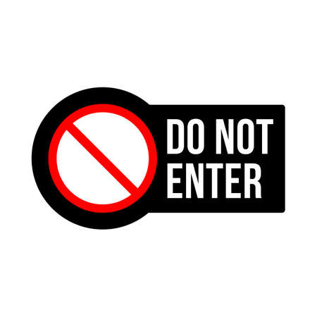 Stop Restriction Do not enter sign design vector icon