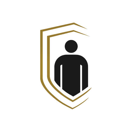 bodyguard self protection logo design vector template illustration