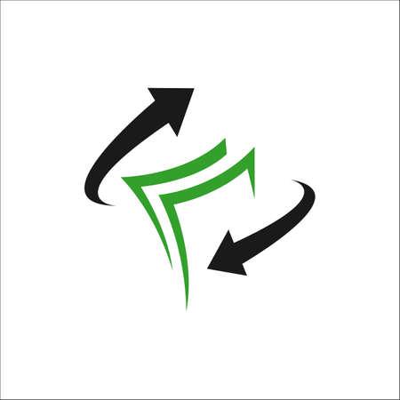 simple money transfer logo vector concept design icon illustration Ilustração