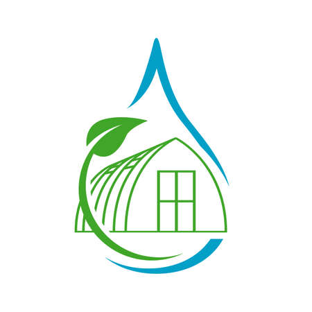 plants green house logo design vector icon illustration