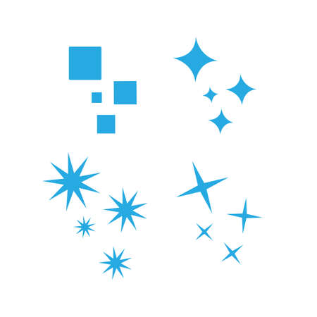 Shine Sparkles Stars icon logo design elements Vector illustration