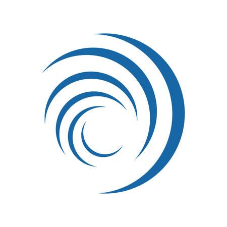 Ilustración de elemento de vector de diseño de logotipo de vórtice de círculo abstracto
