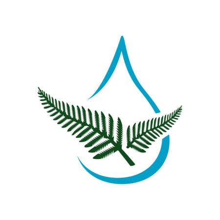 healthy aqua organic water sign logo design vector element