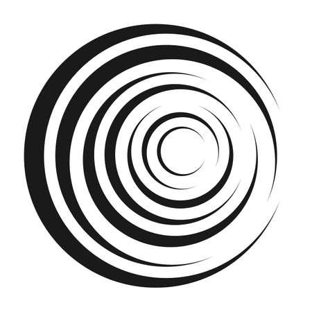 Circular swirl Abstract geometric vortex logo design vector element Иллюстрация