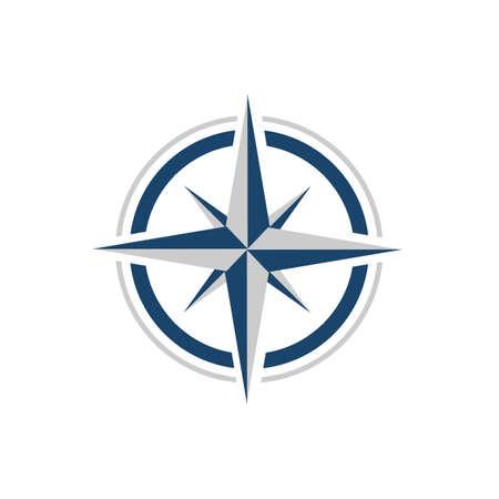 Elegante brújula creativa diseño de logotipo concepto de diseño vector icono plantilla