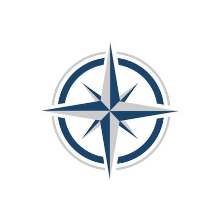 stylowy kreatywny projekt logo kompasu projekt koncepcyjny wektor ikona szablon