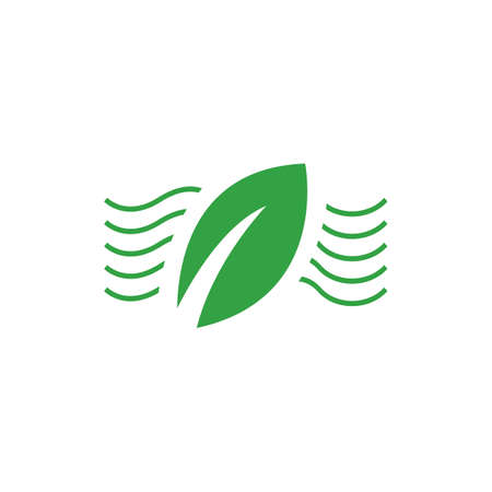 nature simple eco friendly green leaf logo vector elements Ilustracja