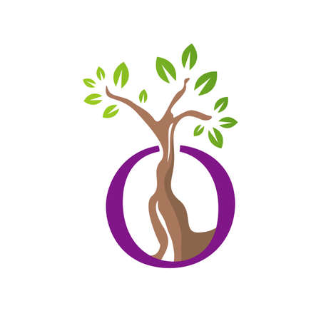 special silhouette tree logo vector graphics elements
