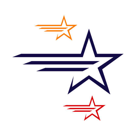 decorative and creative abstract star logo vector icon concept illustration  イラスト・ベクター素材