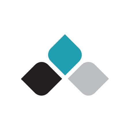 simple modern leaf logo design vector elements Ilustracja